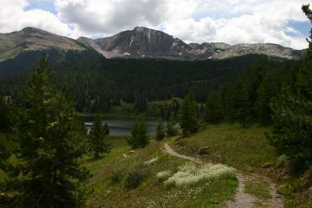 lake along san juan skyway near molas pass