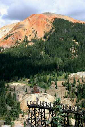 Red Mountains and Yankee Girl Mine