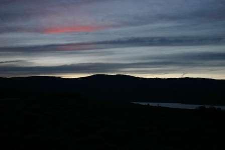 sunset near blue mesa reservoir