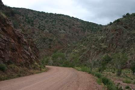 phantom canyon road, canon city to cripple creek colorado