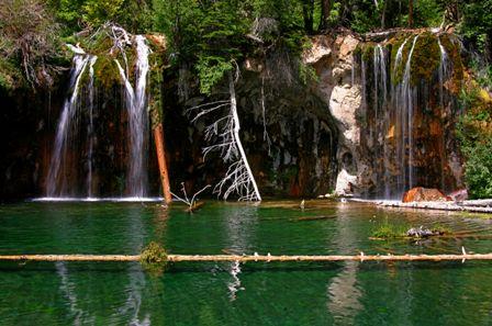 Glenwood Canyon Colorado, Hanging Lake Waterfall and Pool