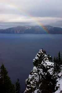 rainbow crater lake