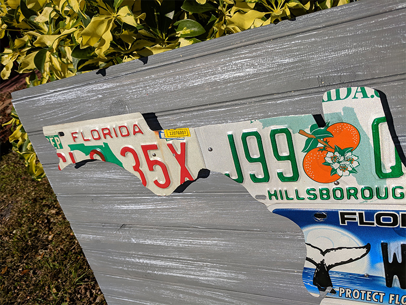 Florida License Plate Sculpture
