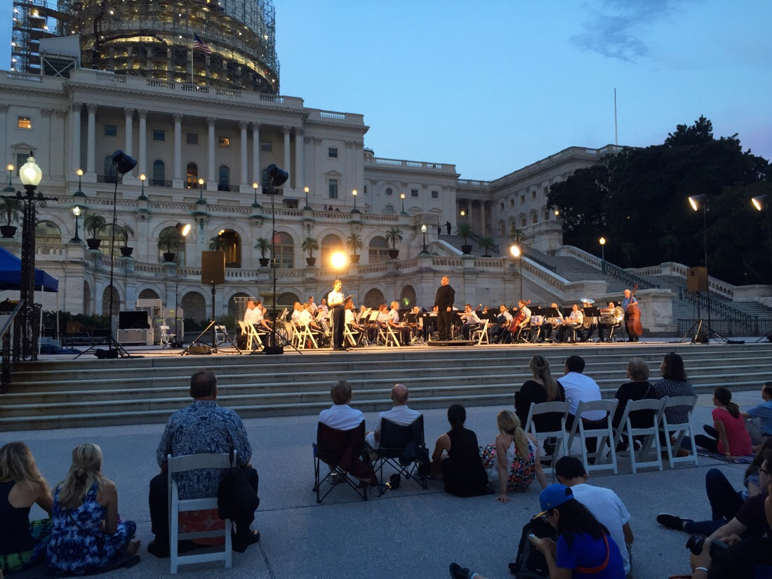 usaf band performing at the us capitol building in washington dc