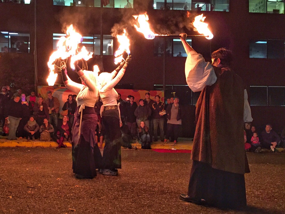 dance afire productions - fire dancers at artomatic in washington dc