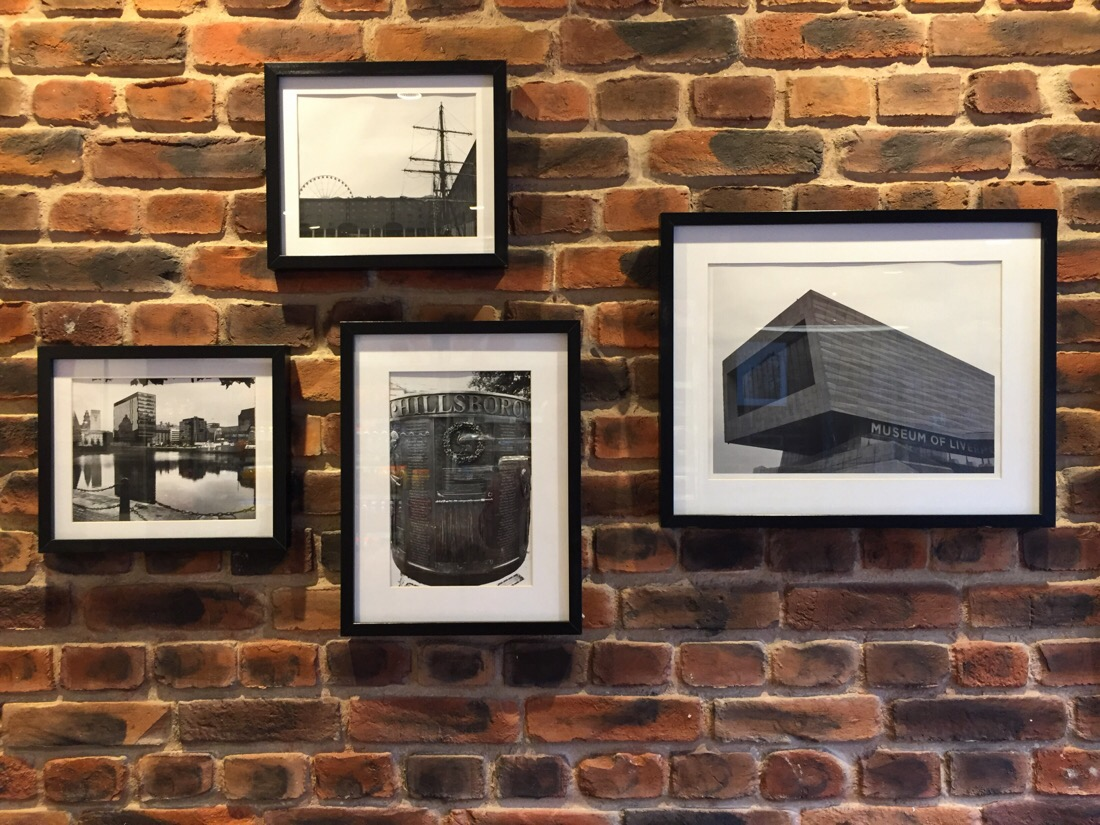 photographs displayed in greggs bakery in netherton, uk