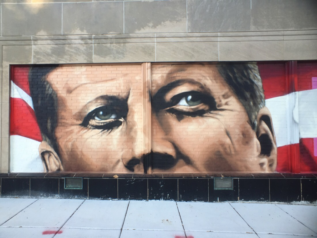 jfk mural on wisconsin ave in washington dc by matthew riegner