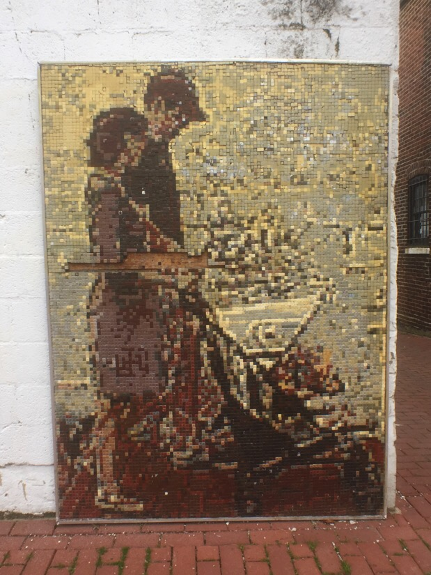 Mosaic street art in blagden alley in Washington DC