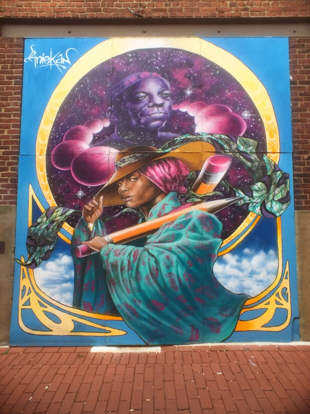 Street art in blagden alley in Washington DC