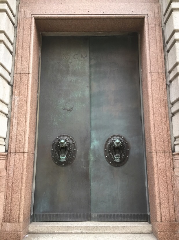 Commercial door at 7 water street in Liverpool, U.K.
