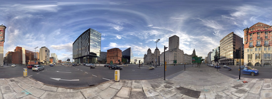 James street in Liverpool, England