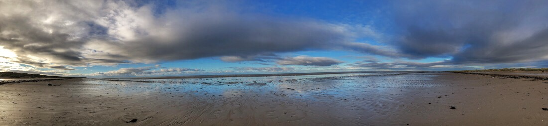 Panoramic view of Ainsdale beach
