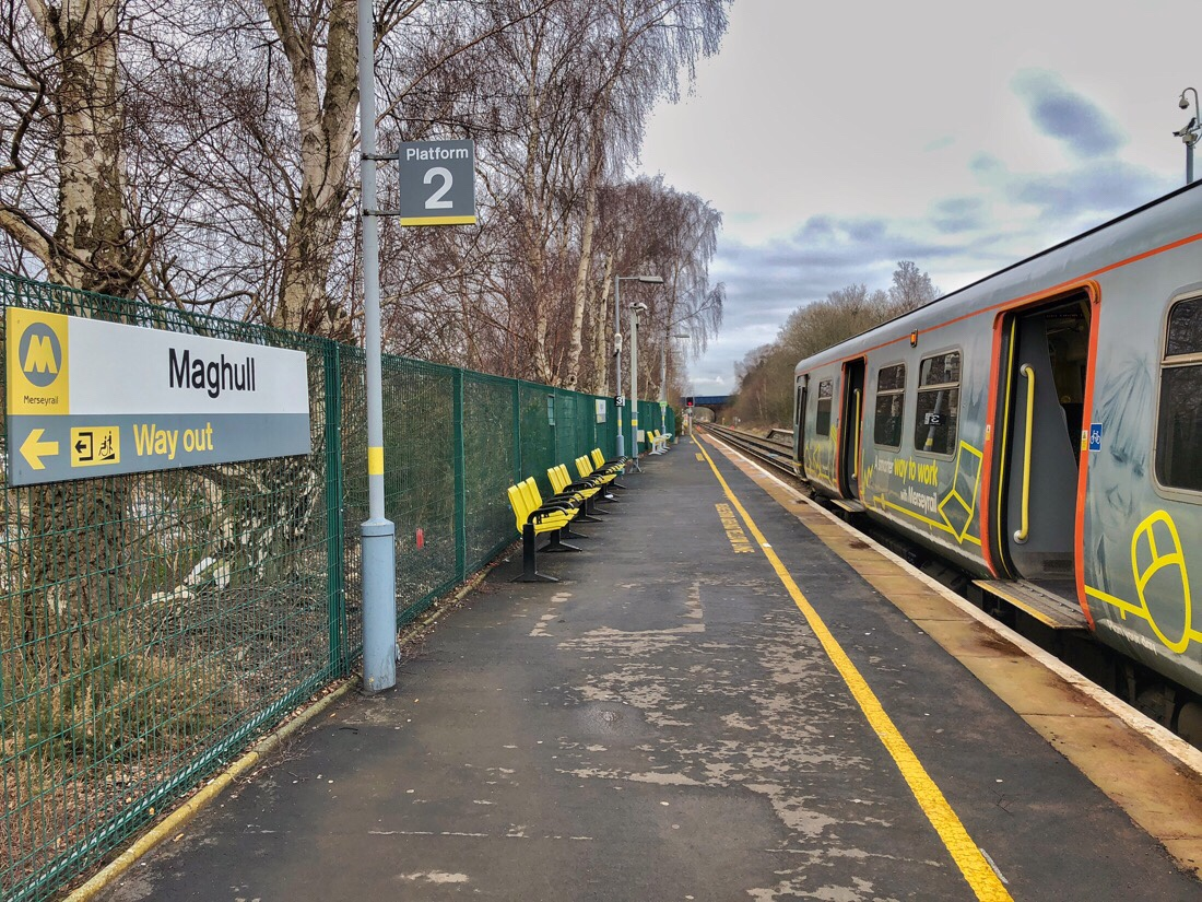 Maghull station on the merseyrail system on merseyside