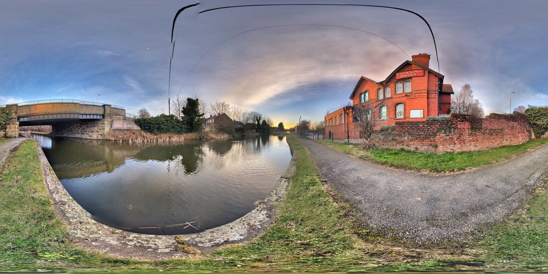 Cookson's Bridge at the Leeds Liverpool canal in ford, merseyside