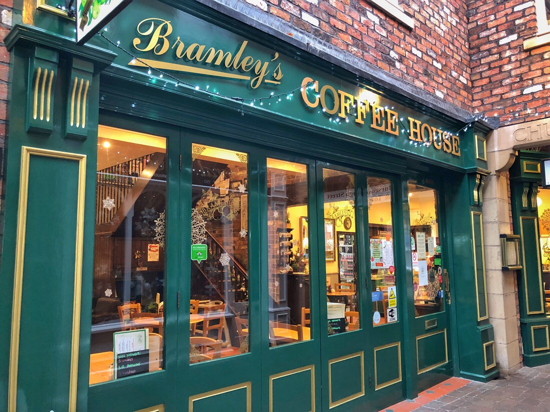 Bradley's Coffee House coffee shop in Ormskirk, Lancashire