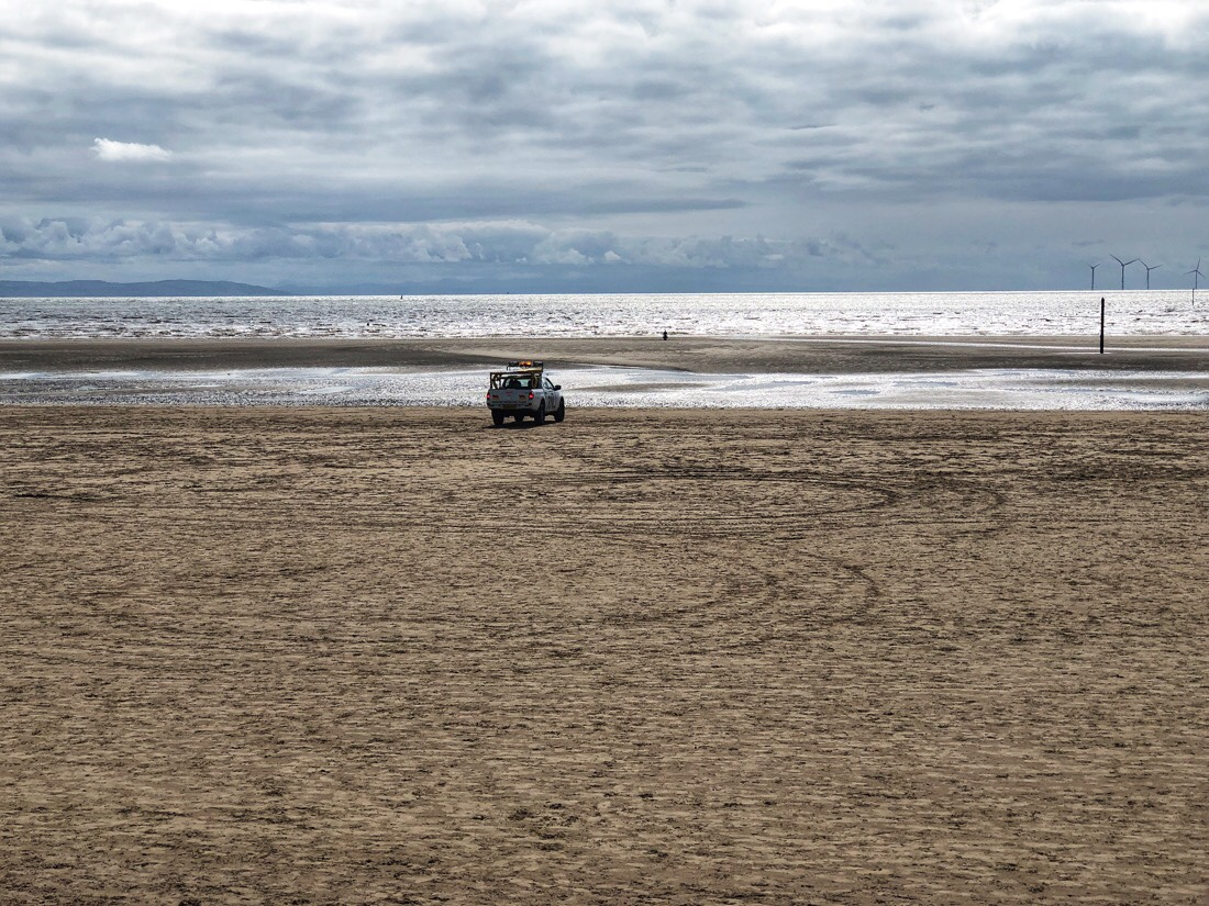 An afternoon walk along Crosby Beach on the Sefton Coast in England