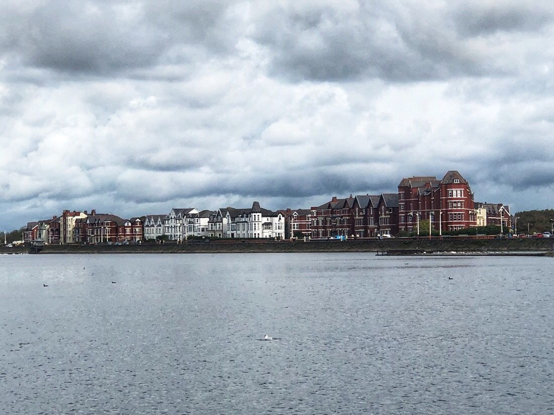Views across Marine Lake in Southport, UK