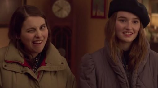 Beanie Feldstein & Kaitlyn Dever in Booksmart