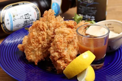 広島県産大粒牡蠣フライ