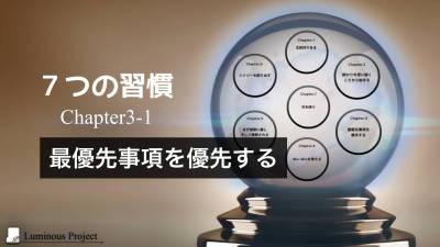 【7つの習慣】Chapter3 最優先事項を優先する