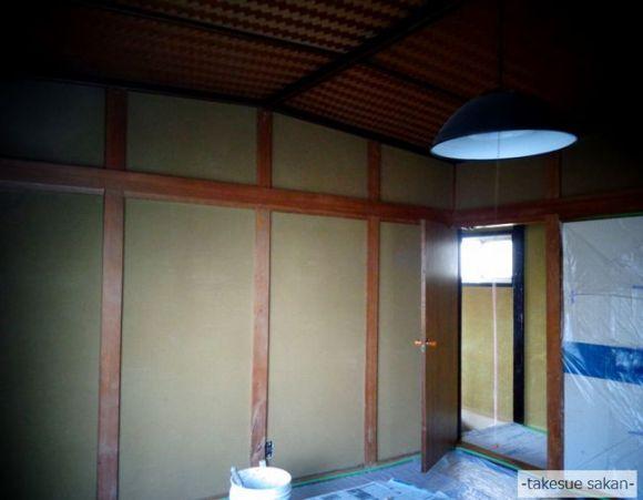 古いじゅらく壁の和室