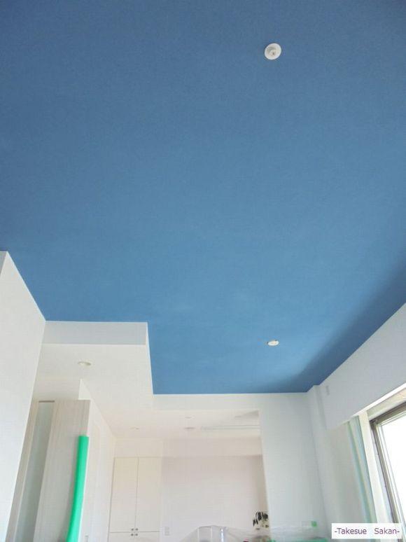 新築マンション 天井の珪藻土塗り
