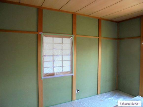 戸建て住宅 和室壁ビフォー