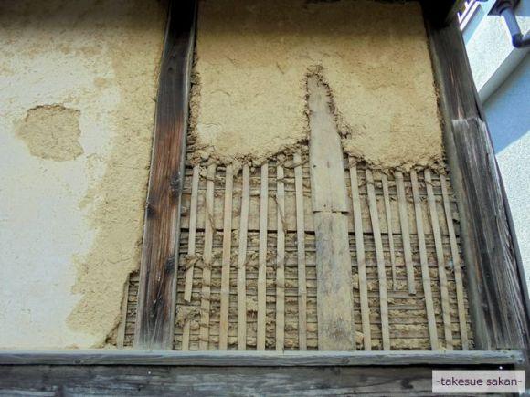 木舞竹(こまい)(土壁の骨組)