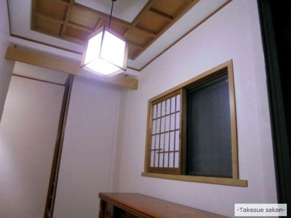 玄関壁 珪藻土塗り替え