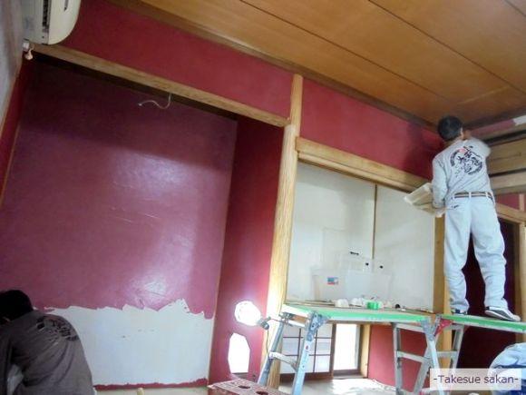 奈良 和室塗り替え ジュラクサンド明