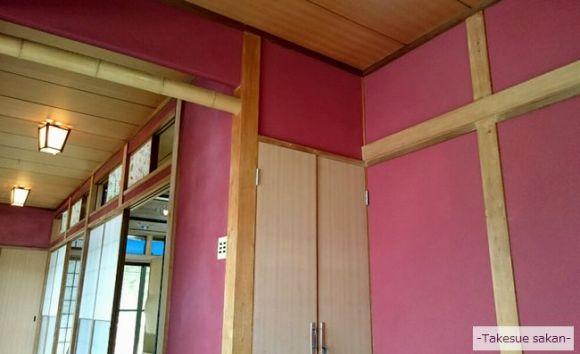 玄関 ジュラクサンド明で塗り替え