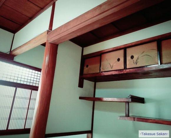 砂王で塗り替えた和室 床の間壁