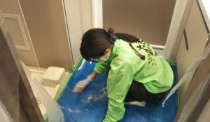 洗面所の珪藻土リフォーム