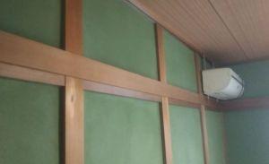 和室壁と木部