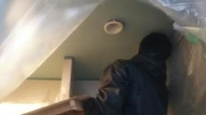 クローゼット天井塗り