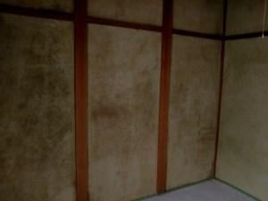 カビが生えた聚楽壁