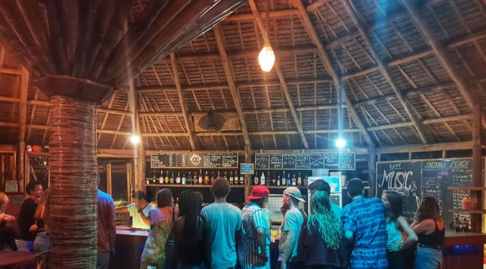 mad monkey hostel Nacpan Beach the bar