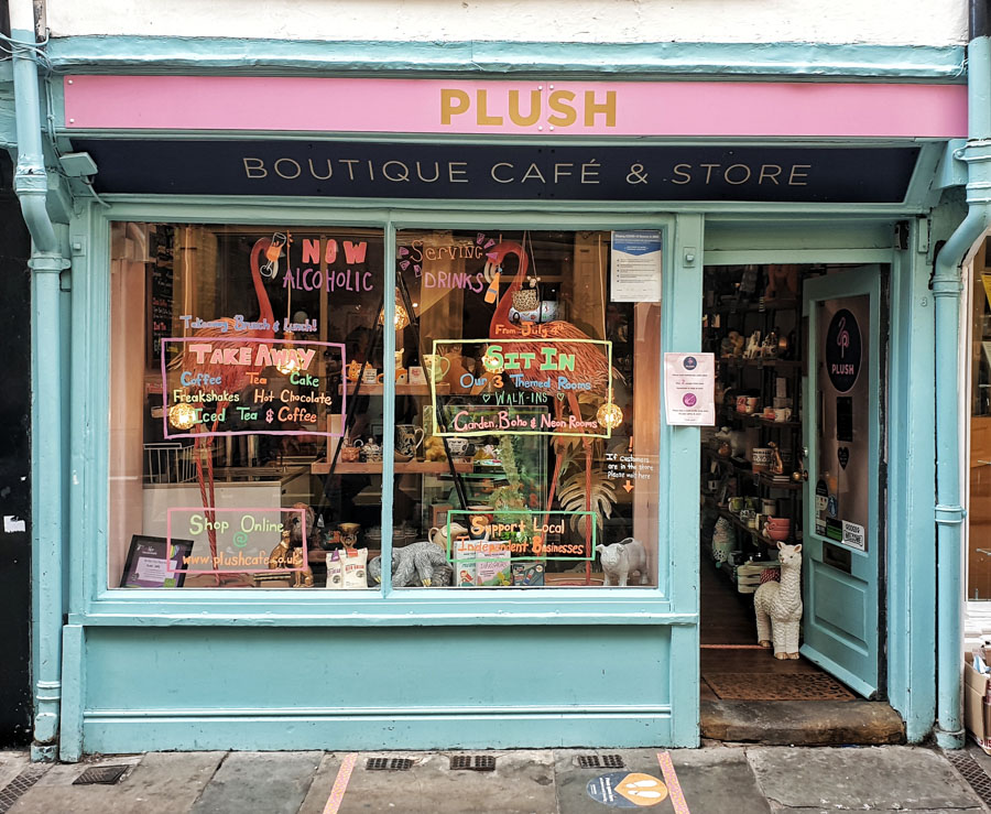 Plush Cafe, York, Yorkshire, England, UK