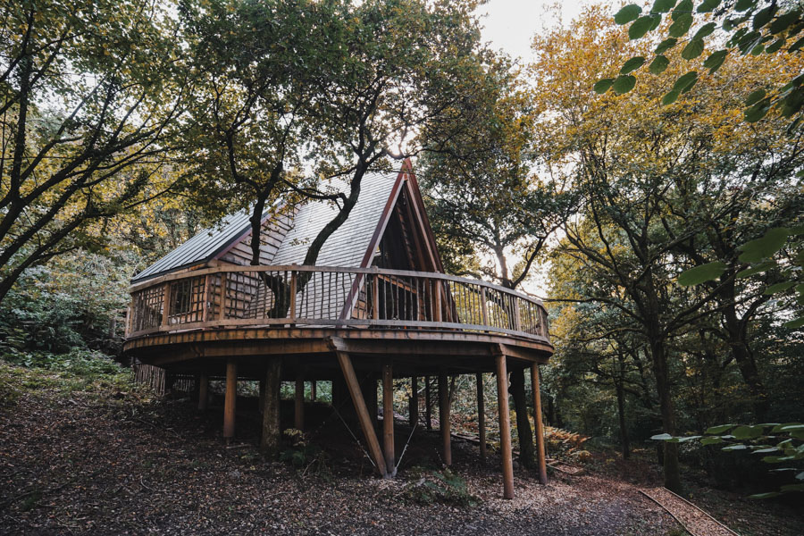 Hudnalls Hideout Treehouse, the Forest of Dean, England, UK