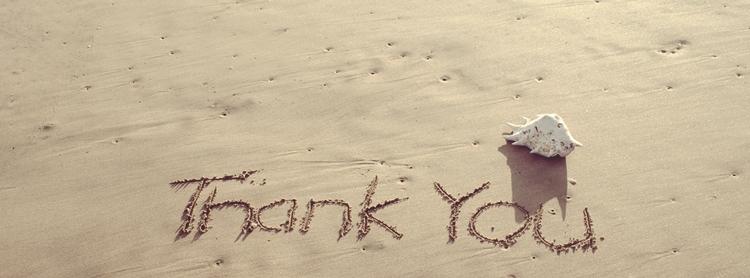 砂に書いたありがとう