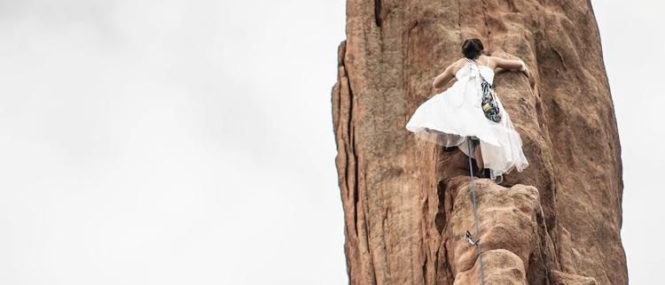 木を登る花嫁