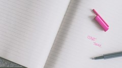 今日が始まりとノートに書く