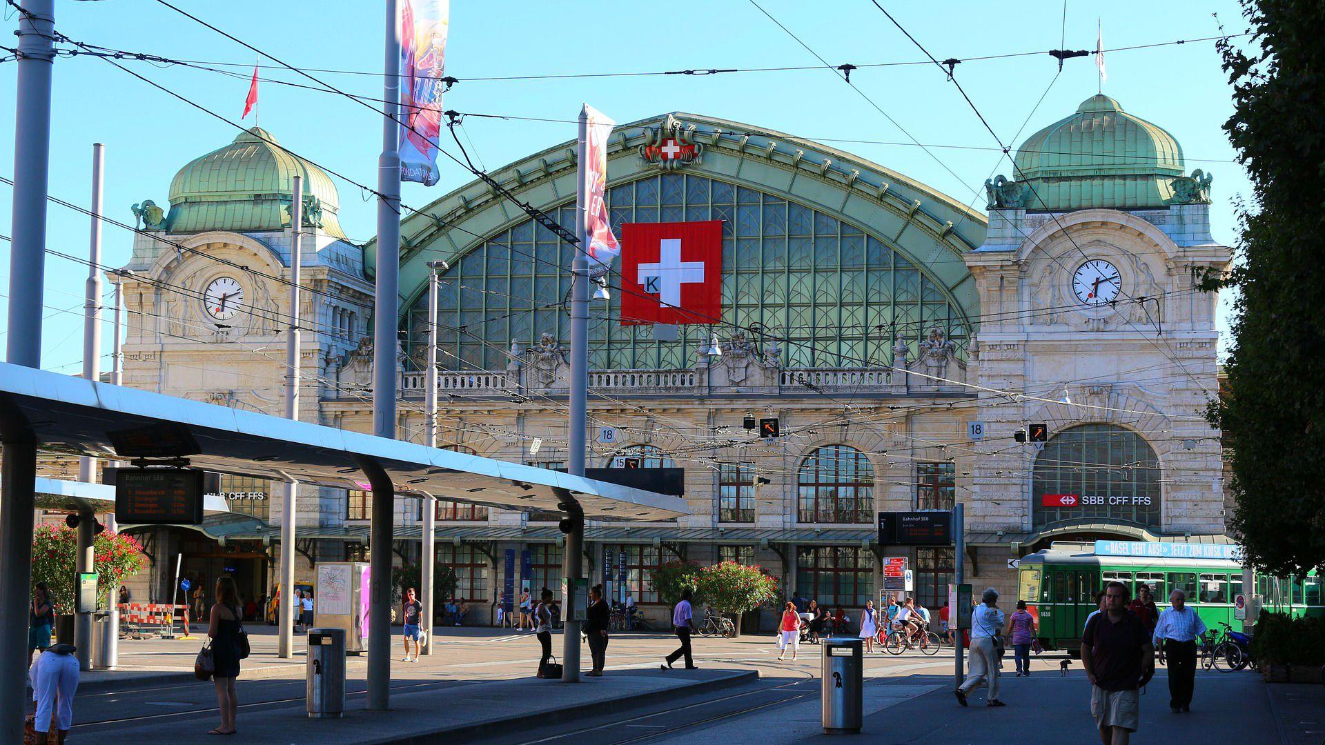 Dworzec kolejowy - Bazylea, Szwajcaria