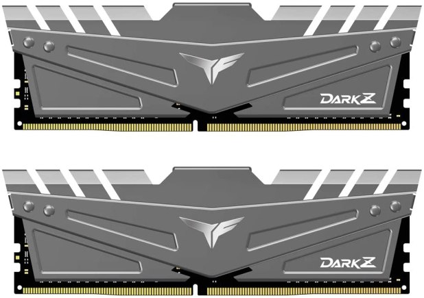 TEAMGROUP T-Force Dark Z DDR4 16GB Kit (2 x 8GB) 3600MHz (PC4-28800) CL 18 288-Pin SDRAM Desktop Gaming Memory Module Ram - Gray - TDZGD416G3600HC18JDC01
