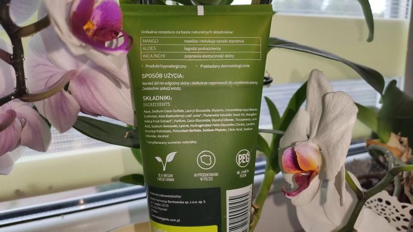 Żel Be organic Mango & Aloes skład