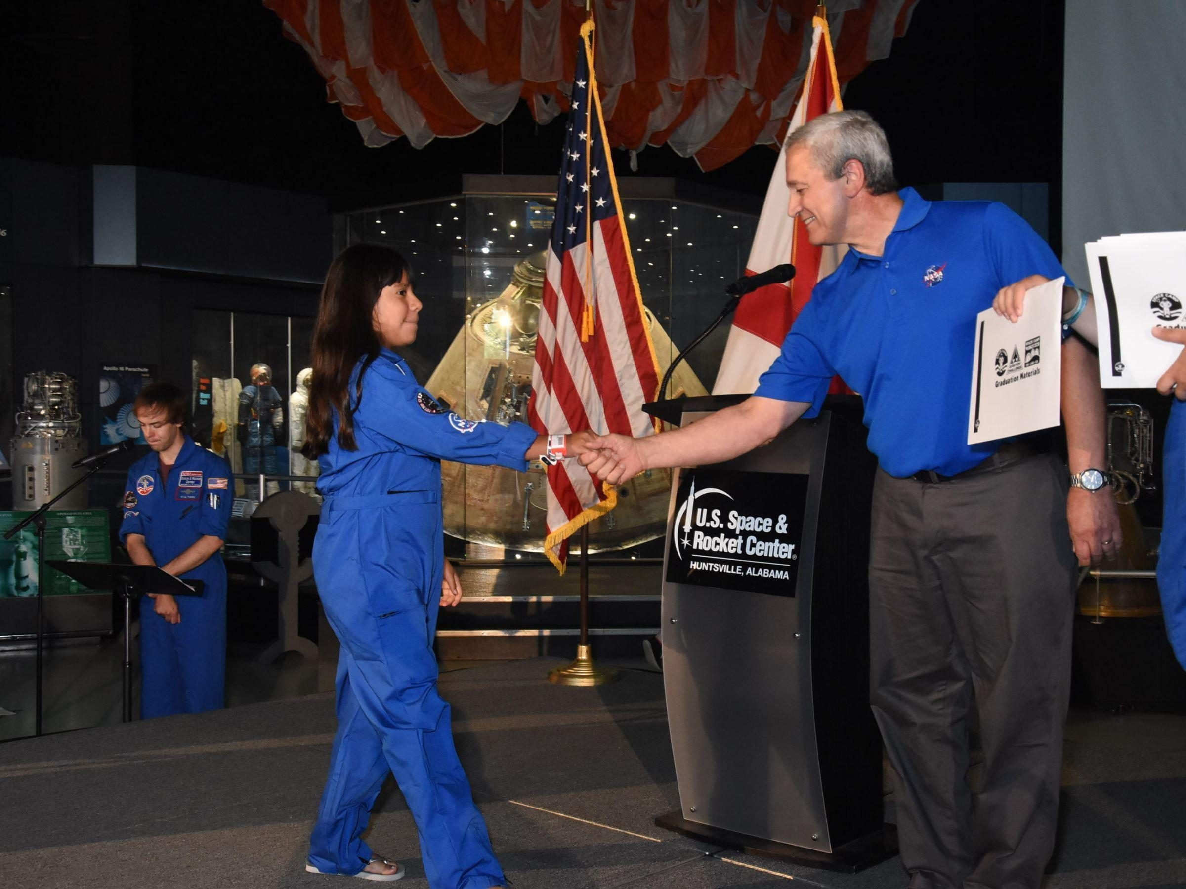 Sole Graduating 2018 with Astronaut Don Thomas