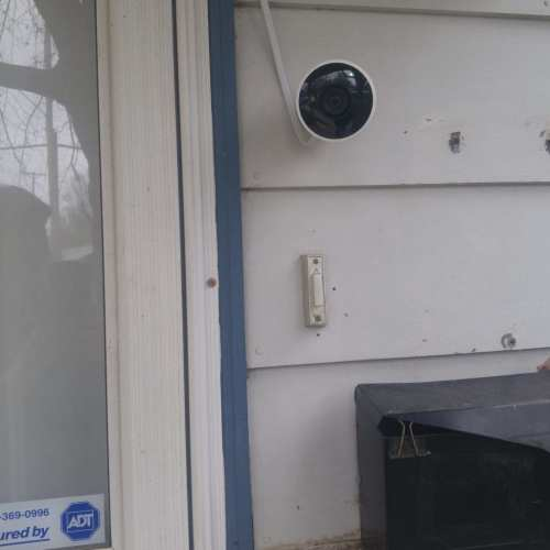 Photo: Nest outdoor camera freshly installed