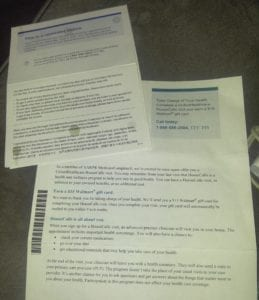 Photo: United Healthcare AARP House Calls mail | takingcareofgrandma.com