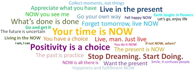 NOW in the present moment