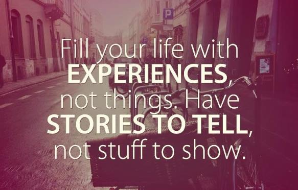 Experiences not stuff